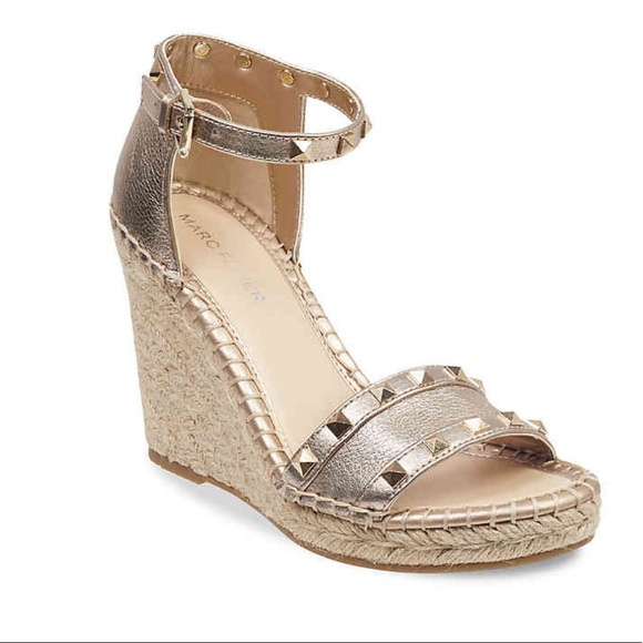 Marc Fisher Shoes - Gold studded Marc Fisher wedge heel sandals